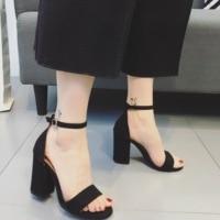 Summer Sandals Shoes Woman 2017 NEW Style Ankle Strap Women Sandals Shoes Open Toe Heels Ladies