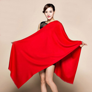 "Image 3 - 20 צבעי סוכריות מותג חדש בורגונדי האופנה נשים קשמיר Pashimina עבה רך צעיף לעטוף צעיפים חם 200x60 ס""מ 1211"