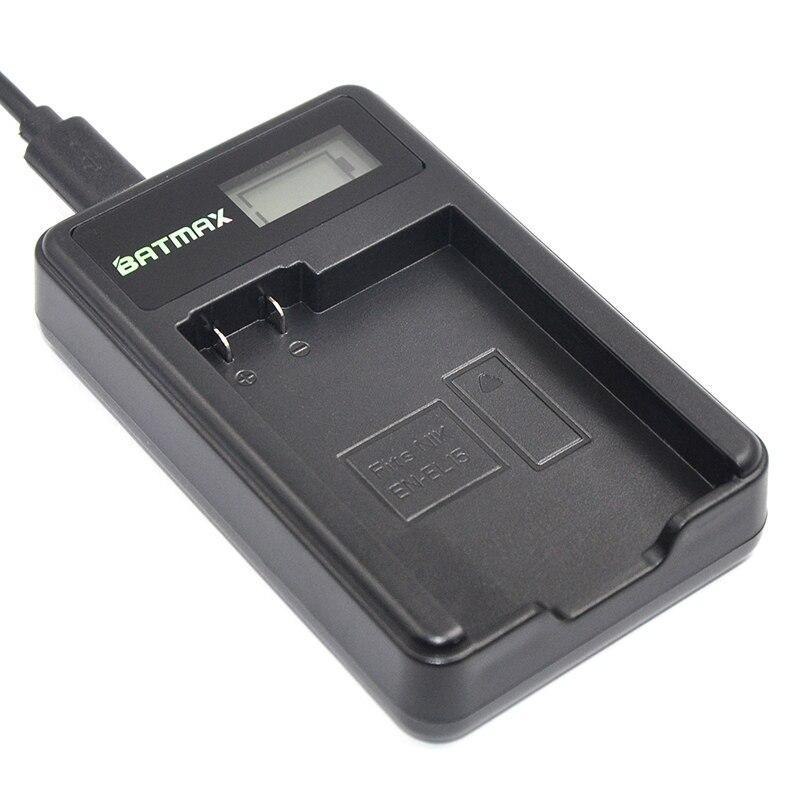 Cargador del USB del LCD para EN-EL15 EN EL15 ENEL15 batería de la cámara para Nikon D600 D610 D600E D800 D800E D810 D7000 D7100 d750 V1 MH-25
