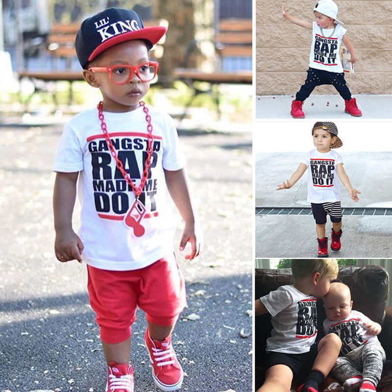 Hot Casual Kids Baby Boy Girl Novelty RAP T shirt COOL Summer Tee Tops Baby Girl Clothing 1 6Y in T Shirts from Mother Kids