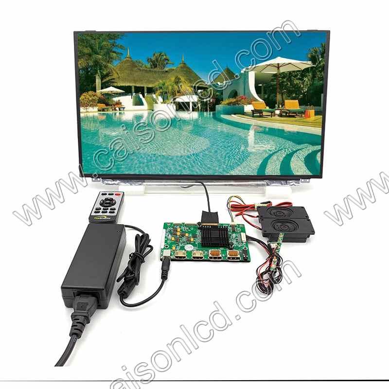2 HDMI + VGA + DP + Audio 4 K LCD contrôleur carte support 17.3 pouces lcd kits avec 3840*2160