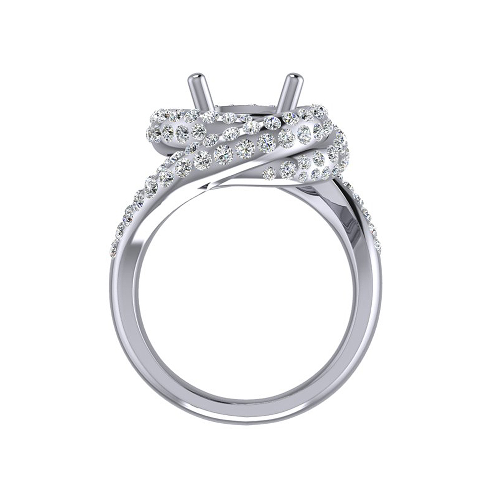 Caimao Nieuwe Ontwerp 8.5mm Ronde 14k White Gold 1.15ct Natuurlijke Full Cut Diamond Prong Ring - 5