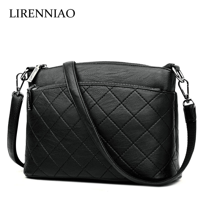 LIRENNIAO Genuine Leather Cowhide Women Messenger Bags Diamond Lattice Pattern Elegant Ladies Handbags Crossbody Shoulder Bag 3v 3a 15w power supply module waterproof dc dc converter 12v apr19 35