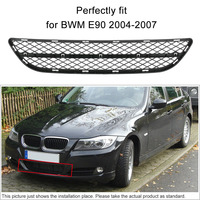 KKmoon For BWM E90 Front Bumper Center Lower Grille Grill Fits 2004 2005 2006 2007
