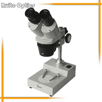 Binocular Stereo Microscope with Top Lihgt Illumination Total Magnification 30X 60X for Student Educational Watch Repair