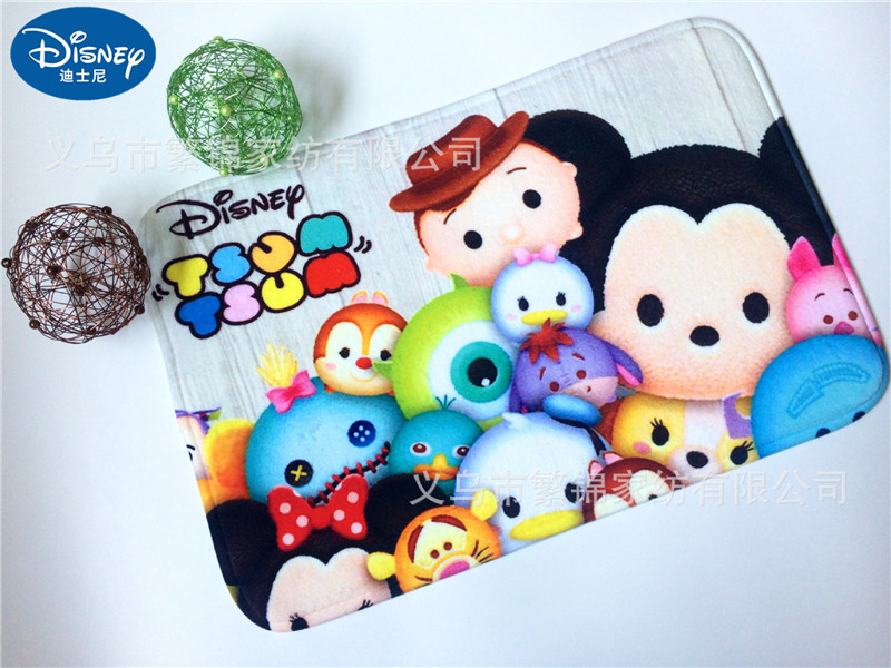 Cartoon Mickey And Minnie Mouse Mat 38x58cm Door Mat Bathroom Mat Kitchen Kids Boys Girls Crawling Game Mat Bedroom Carpet