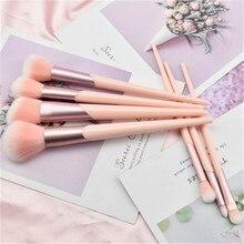 7pcs Makeup Brushes Set Rose Gold Handle Foundation Powder Blush Eye Shadow Lip