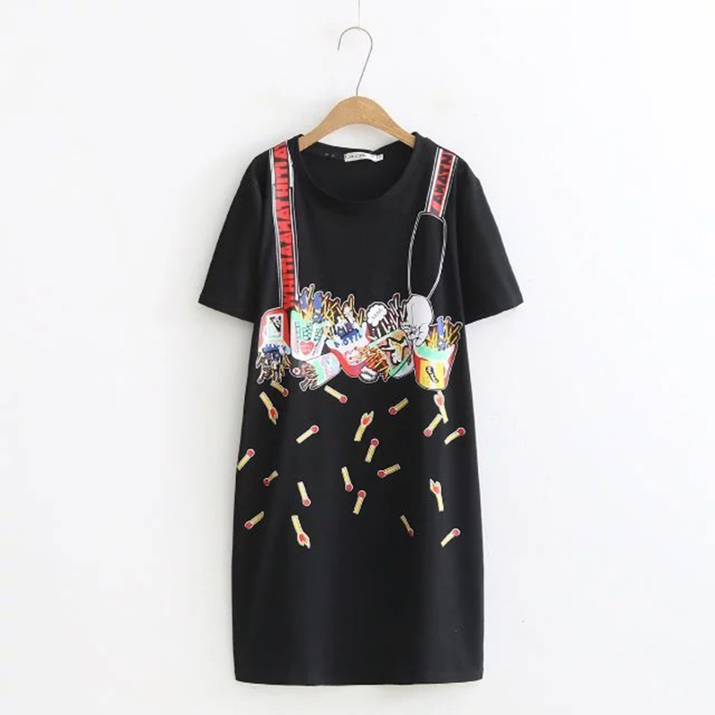 Oversized Plus Size Long Casual Short Sleeve Women T Shirt  Match Printing O Neck T-shirt Women Tops Tshirt Summer Tee Shirt