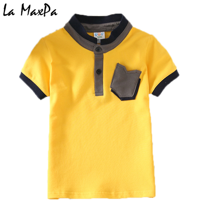 19f2f7acf Kids Boy School Polo Shirts Style Fashion Summer 2018 Children Cotton Short  Sleeve Clothes Toddler Pattern Fish Snow Polos Shirt