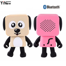 Cartoon Bluetooth Speaker Portable Dance Robot Dog sound box mini usb for Mobile Phone