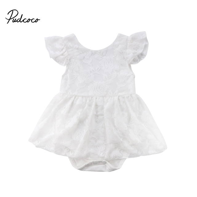 5fd14d8e42f Pudcoco Cute Newborn Baby Girl Princess Lace Romper Jumpsuit Playsuit Dress  Girls Outfits Summer Clothes