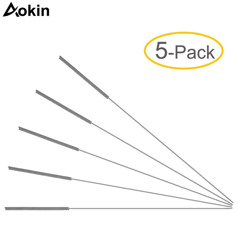 5pcs/lot 3D printer cleaning needle Stainless Steel Nozzle