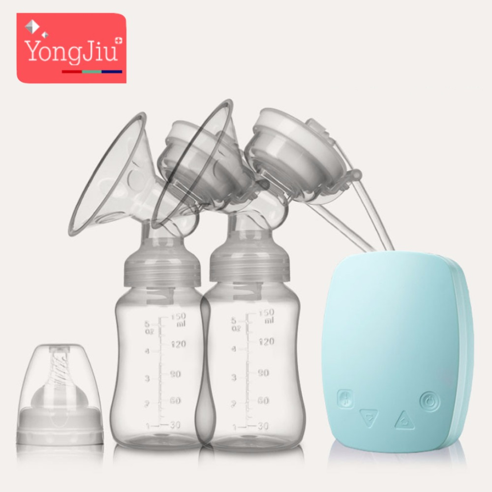 2018 YONG JIU Intelligent USB electric breast pumps baby BPA Free Maternal Breast feeding Breast milk Single double breast pump