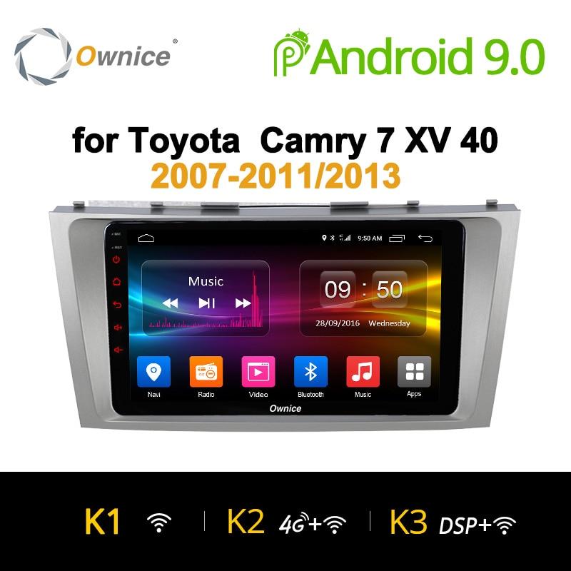 Ownice K1 K2 K3 2 Din 8 Núcleo Android 9.0 Do Carro DVD GPS de Navegação Para Toyota Camry 2007-2011 /2013 Unidade de Cabeça de rádio Estéreo Do Carro