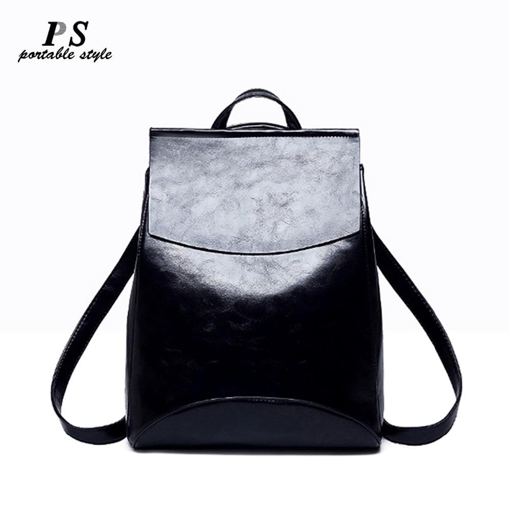 2019  Fashion Women Backpack High Quality Genuine Leather Backpacks for Teenage Girls Female School Shoulder Bag Bagpack Mochila