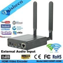 Unisheen H.264 IPTV Encoder 2.4G 5.8G wifi HDMI Video Encoder vmix low lantency youtube facebook ip rtmp live streaming