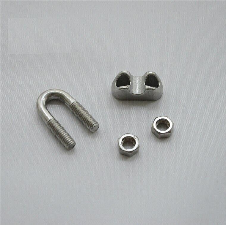 304 edelstahl clamp/karte kopf/edelstahl drahtseil clip/U/draht clip ...