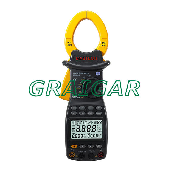 Mastech MS2205 3 Phase Power Clamp Meter Power Factor