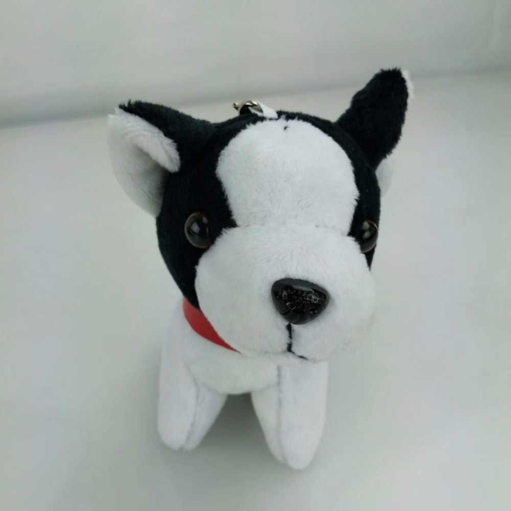2017 Chaveiros trinket Mini cão Pom Pom Mulheres Coelho fofo Bulldog Boneca de Brinquedo Monstro Saco Anel Chave Do Carro Chaveiro Jóias presente