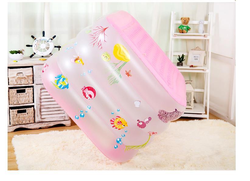 Portable piscine pour bébé Gonflable Enfants De Bain Baignoire 125x75 cm Bébé Mini-aire de jeux Écologique PVC Étang Enfants cadeaux de vacances