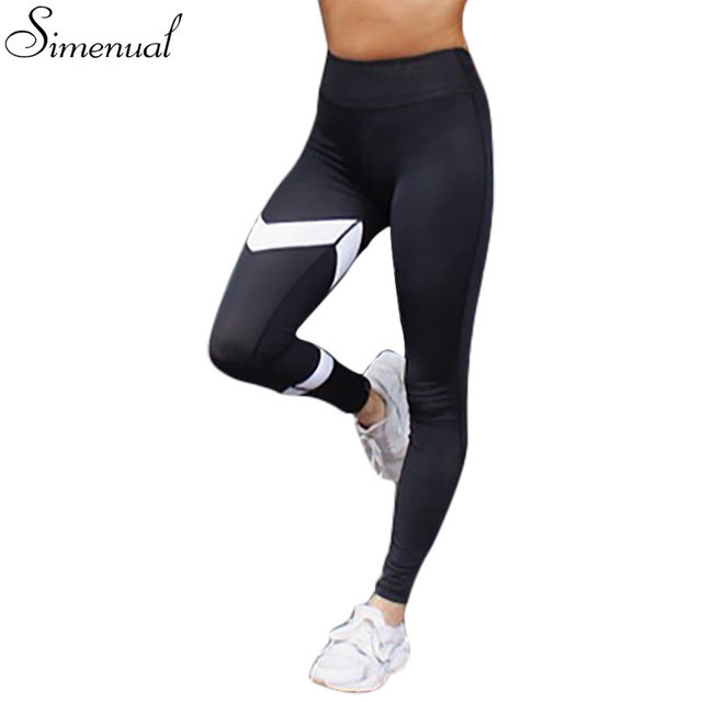 89afdb173f4b Push up patchwork slim legging female pants fitness athleisure sexy black  white jeggings leggings for women