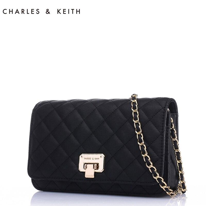 8.8%  Charles Keith CK2-70700005 ladies wind Lingge chain shoulder bag