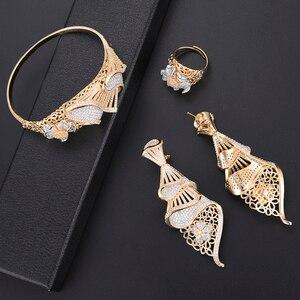 Image 5 - missvikki Dubai Gold color Jewelry Sets Bridal Gift Nigerian wedding accessories jewelry set Wholesale statement Brand jewelry