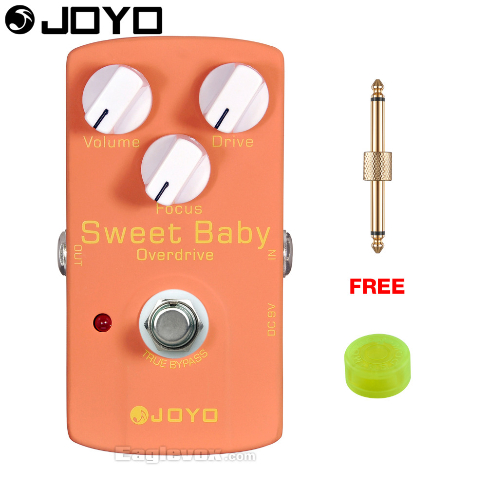JOYO Sweet Baby Distortion Electric Guitar Effect Pedal True Bypass JF-36 with Free Connector and Footswitch Topper joyo jf 317 space verb digital reverb mini electric guitar effect pedal with knob guard true bypass