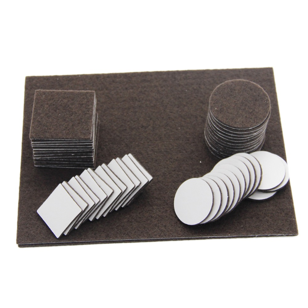 50pcs Square Self Adhesive Furniture Felt Pads Protector Feet Chair Table Sofa In Furniture