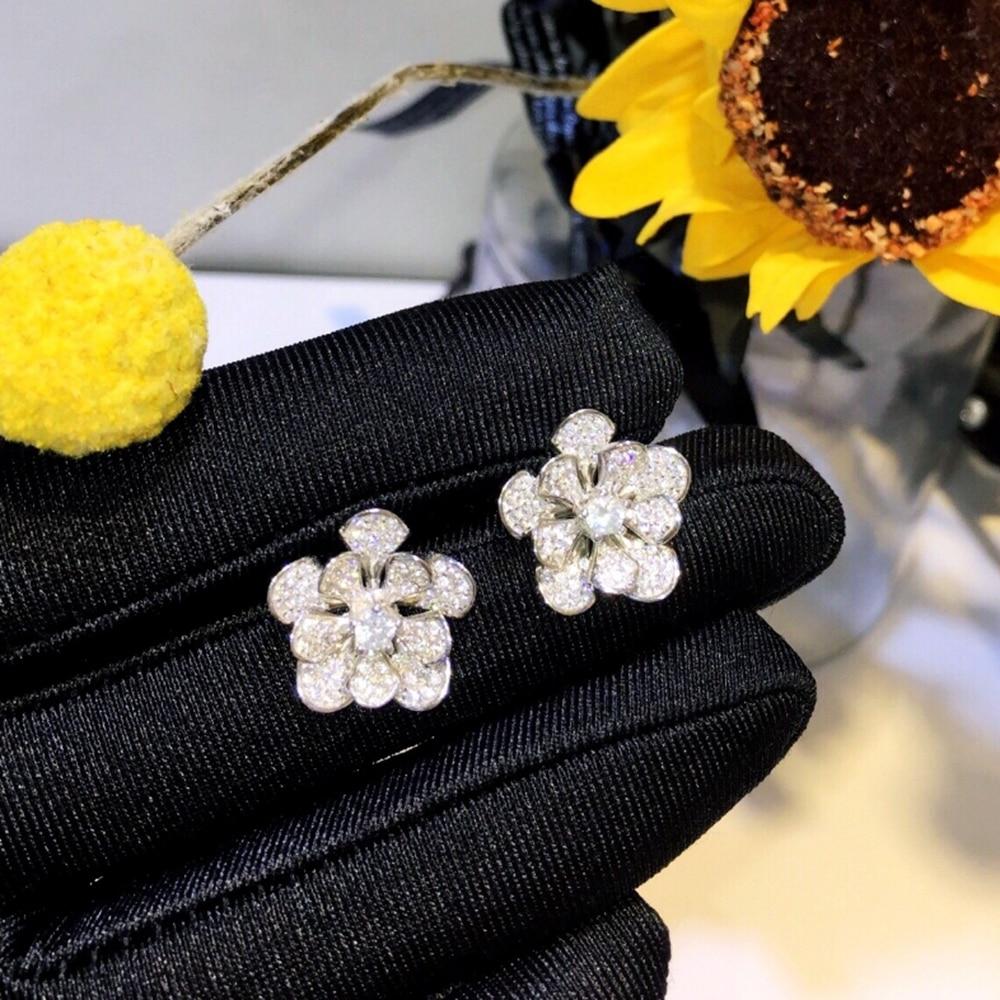 Nouvelle marque Pure 925 bijoux en argent Sterling OL Diva anneau pour les femmes de mariage couleur argent boucle d'oreille Top qualité mode en gros