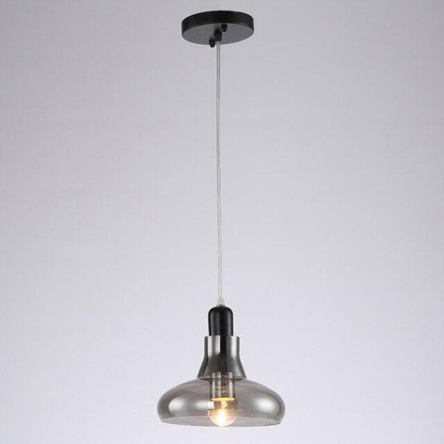 Model Design Glass Led Pendant Light Hanging Rope Lamp Loft Dinning Room Kitchen Black Iron Decor Home Lighting E27 110-240V