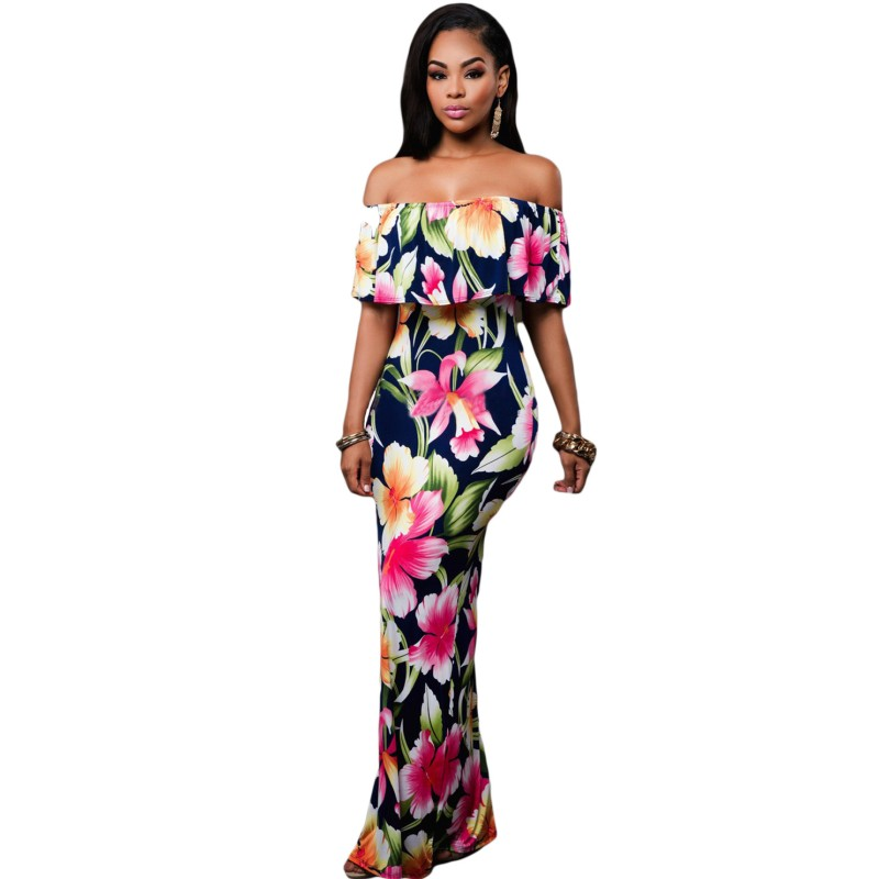 Pattern for a strapless maxi dress