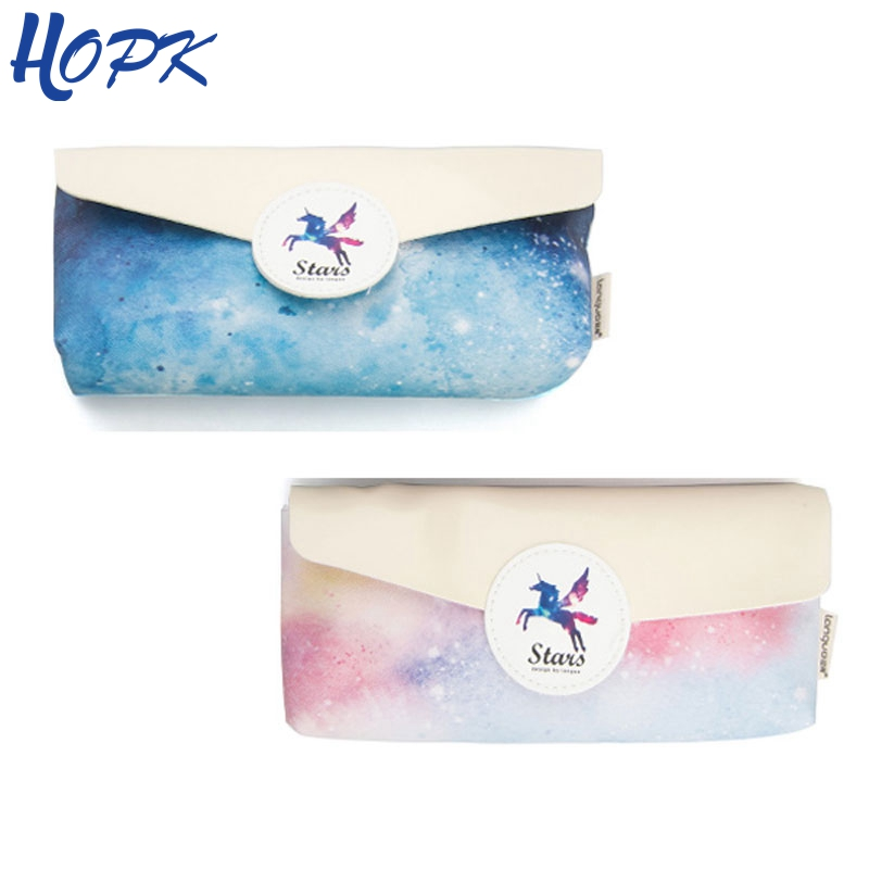 Kawaii Unicorn Pencil Case for Girls Cute PU Leather Big Pencilcase Pen Pencil Bag Bts Stationery Pouch School Supplies Tool kawaii cartoon girls school pencil case with lock cute pu leather large capacity pencil bag gift bts pen box stationery supplies