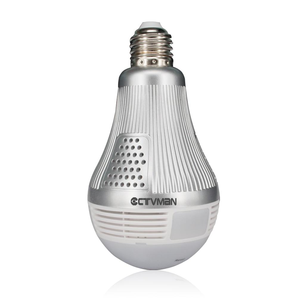 CTVMAN Wi fi Panoramic IP Camera 3MP 360 Degree Led Light Bulb Lamp Fisheye Cam E27 Wireless VR 3D Wifi Security Led P2P Webcam