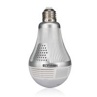 CTVMAN Wi Fi Panoramic IP Camera 3MP 360 Degree Led Light Bulb Lamp Fisheye Cam E27