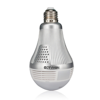 CTVMAN Wi Fi Panoramic IP Camera 3MP 360 Degree Led Light Bulb Lamp Fisheye Cam E27