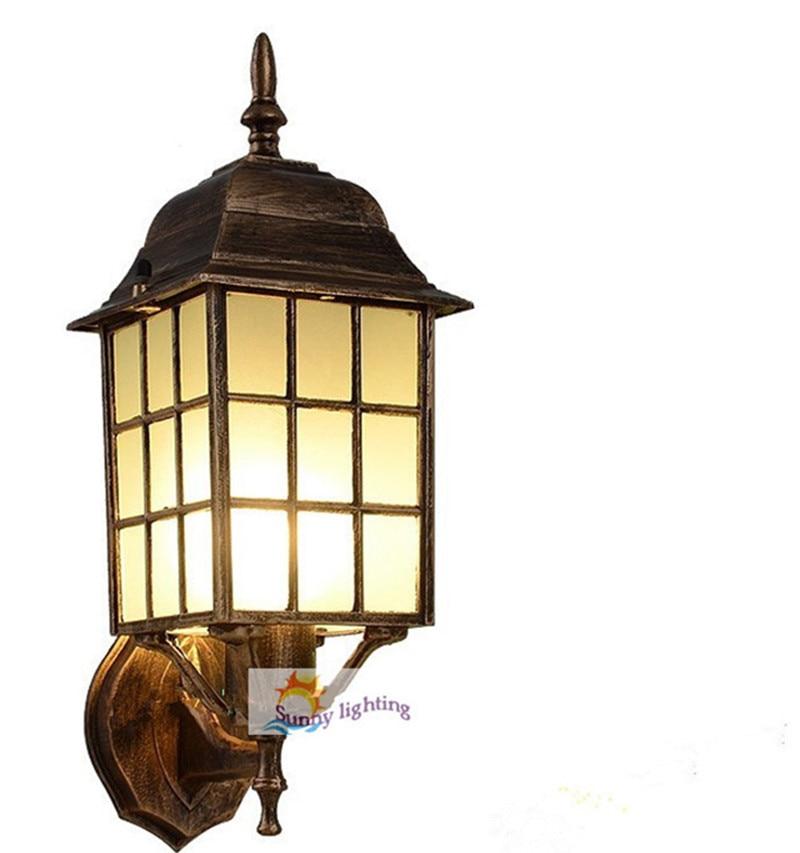 Aluminum outdoor wall lamp vintage Garden lighting E27 waterproof wall sconce cottage terrace bedroom bathroom outdoor lighting картридж canon pg 40 черный pixma mp450 mp150 mp170 ip1600 ip2200 ip6210d 0615b025