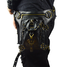где купить Gothic Men's Waist Bag Steampunk Fanny Pack Vintage Messenger Shoulder Thigh Bag Retro Small Rock Motorcycle Leg Bags по лучшей цене