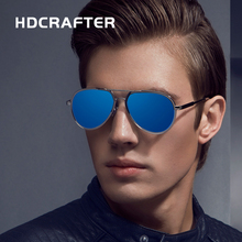 HDCRAFTER Fashion Sunglasses oculos de sol masculino Vintage gafas Coating Mirror Goggle Driving Glasses Eyewear Accessories