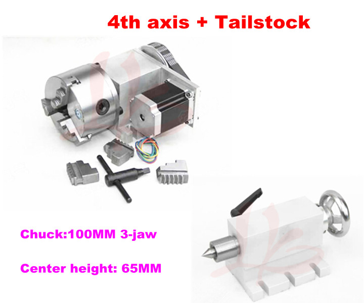 CNC Tailstock and Rotary Axis, A Axis, 4th Axis, CNC Router Engraver Milling Machine no tax to russia 4 axis cnc milling machine cnc 6040 router engraver usb 2 2kw with rotary axis cnc controller and limit switch