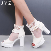цена на 2018 New Fashion Womens Sandals Summer High Heels Platform Pumps Peep Toe Shoes Lady aa0950