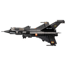 Bricks Toy Airplanes Models Building Block Black Fighter Kid Baby Educational Toys Dassault Rafale