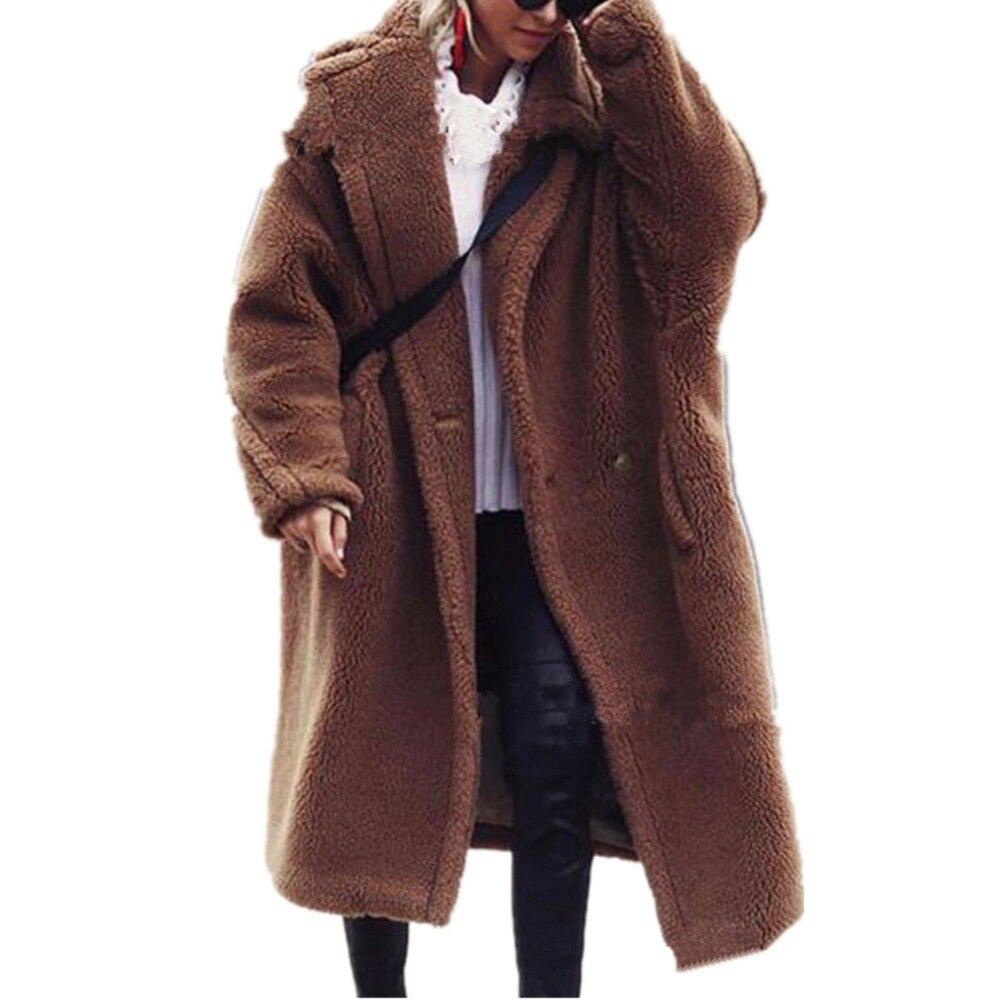 Pardessus Chaud Colly marron Épais Laine Fourrures D'hiver Outwear Lisa Nouvelle Fourrure Femmes Manteau Fausse En Moelleux Veste Rouge Mode Casual fOwWx1dq