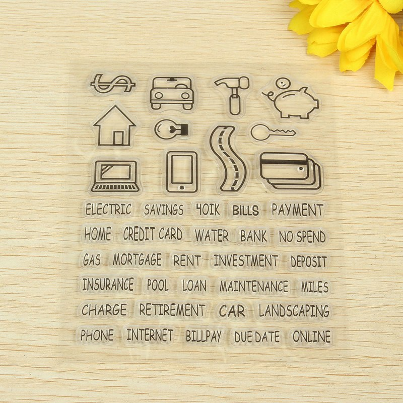 1pcs cute notes letter transparent stamp for hand