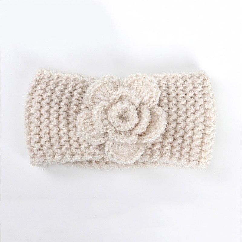 Infant Baby Winter Warm Flower Knitted Turban Headband Kids New Crochet Hairband