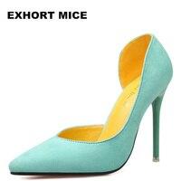 2017 Mulheres Bombas de Moda Sexy Sapatos de Salto Alto Mulheres Apontou dedo do pé Das Senhoras Sapatos de Casamento Salto Fino Preto Rosa 11 cm primavera/Outono