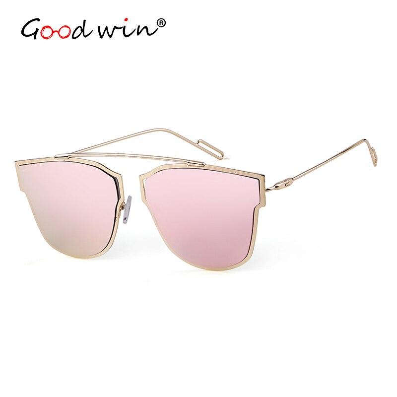 Good Win UV400 Cool Cat Eye Sunglasses Women Or Rose Gold Frame Fashion Female Sun Glasses Men