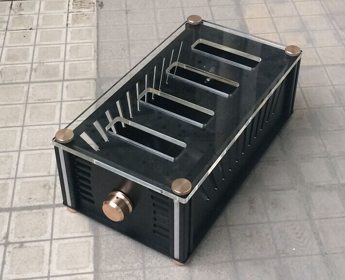 BZ2012RKV Whole aluminum chassis tube amplifier chassis case queenway audio bz2012rkv aluminium amplifier chassis multi amplifier case 202mm 143mm 362mm 202 143 362mm