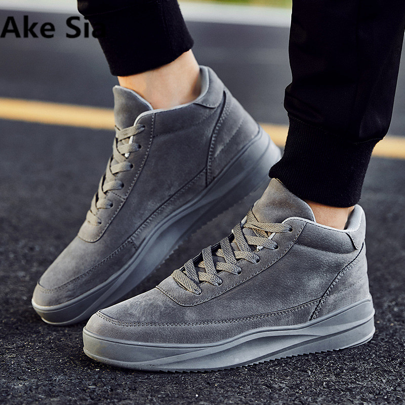 Ake Sia 2017 New Men's Shoes Suede Leather Casual Shoes Breathable Men Shoes Fashion Leather Flats  rubber Outsole 2017 new spring imported leather men s shoes white eather shoes breathable sneaker fashion men casual shoes