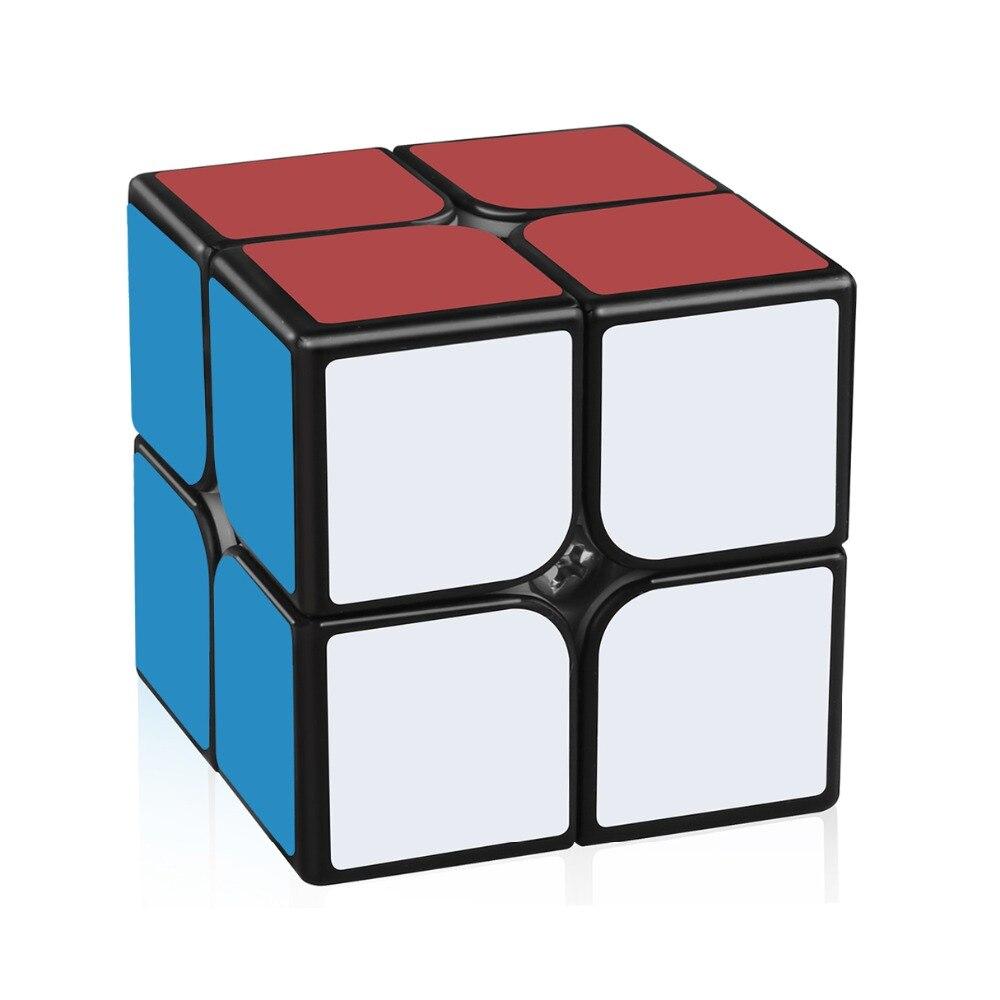 Black 2x2 Mini Cube Pocket Cube Magic Speed Cube Smooth Twist Puzzle Kids Toys